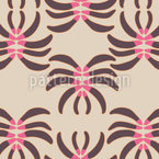 Crab Flowers Vector Pattern