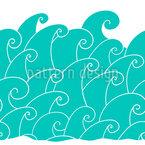 Stürmische Welle Rapportmuster