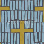 Stripes And Crosses Seamless Vector Pattern Design