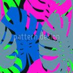 Monstera Neon Blätter Nahtloses Vektormuster