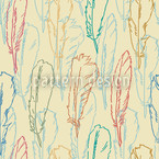 Feathers Handdrawn Repeating Pattern