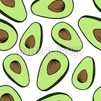 Avocado-Liebe Nahtloses Vektormuster