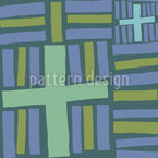 Rectangles And Crosses Seamless Vector Pattern Design