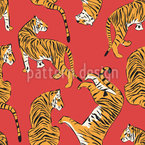 Tiger Show Repeating Pattern