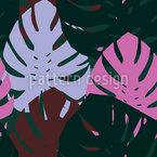 Große Monstera-Blätter Nahtloses Vektormuster