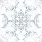 Dezentes Schneeflocken Designmuster