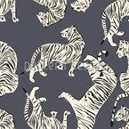 Tiger-Paradies Nahtloses Vektormuster