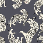 Tiger Paradise Seamless Vector Pattern Design