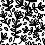 Massive Blume Nahtloses Vektormuster