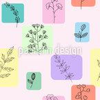 Blumen Auf Fliesen Nahtloses Vektor Muster
