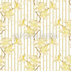 Oleander Und Bänder Muster Design