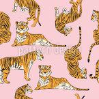 Tigre Majestic Design de padrão vetorial sem costura