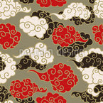 Clouds In Asia Vector Ornament