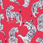 Auge Des Tigers Nahtloses Vektormuster