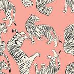 Edler Tiger Nahtloses Vektormuster