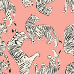 Noble Tiger Seamless Vector Pattern Design