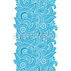 Indian Fantasy Flowers Vector Ornament