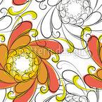 Bewegende Blume Nahtloses Vektormuster