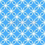 Flocos de Neve com Bordas Design de padrão vetorial sem costura