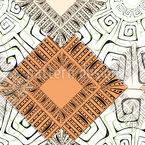 Doodle Étnico Design de padrão vetorial sem costura