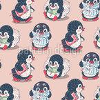 Pinguin Fischer Muster Design