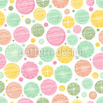 Floral Dot Seamless Vector Pattern