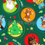 Christmas In Circles Seamless Pattern