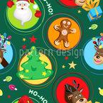 Weihnachten In Kreisen Nahtloses Vektormuster