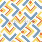 Boomerang Blue Seamless Vector Pattern Design