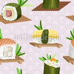 寿司 シームレスなベクトルパターン設計