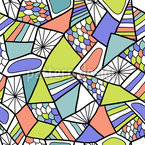 Mosaico Abstrato Moderno Design de padrão vetorial sem costura