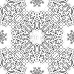 Symmetric Blossom Seamless Vector Pattern Design