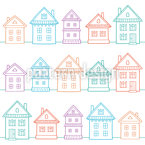Country Houses Pattern Design