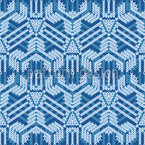 ダブル刺繍 シームレスなベクトルパターン設計