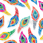 Piume di pavone stilizzate disegni vettoriali senza cuciture