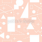Simple Shapes Seamless Vector Pattern Design