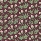 Edged Rose Buds Seamless Vector Pattern Design