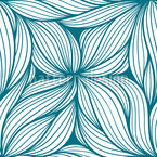 Wellenförmige Seegräser Nahtloses Muster