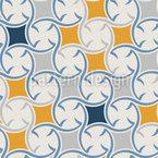 Cerâmica Talavera Design de padrão vetorial sem costura
