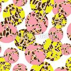 Kreise Mit Animal Prints Vektor Design