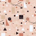 Geometrische Einfache Formen Nahtloses Vektormuster