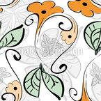 Blumen-Regen Nahtloses Vektormuster