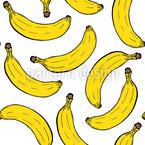 Fiesta Banana Estampado Vectorial Sin Costura