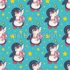 Penguin Fairy Seamless Pattern