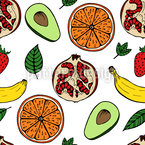 Healthy Lifestyle Seamless Vector Pattern Design