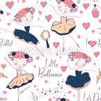Ballerina Seamless Vector Pattern Design