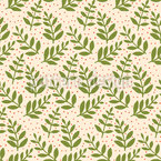 Christmas Leaves Seamless Vector Pattern