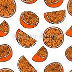 橙色梦 无缝矢量模式设计