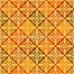 Flor magnífica Design de padrão vetorial sem costura