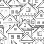 Cartoon Houses Design Pattern